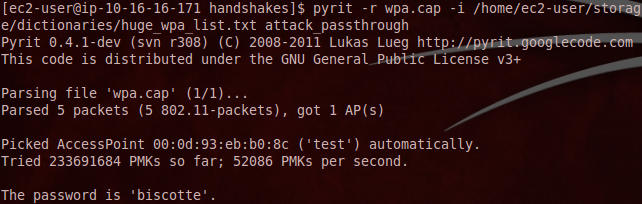 using pyrit to crack wpa2 gpu